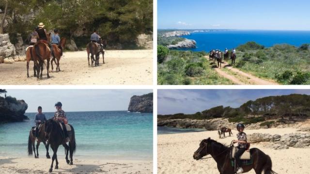 paardrijden menorca vakantie strand